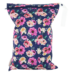 Smart Bottoms - On the Go wet bag - Petit Bouquet - waterproof cloth diaper bag - Floral print bag