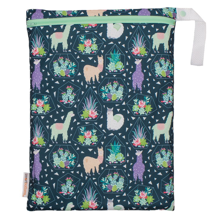 Smart Bottoms - On the Go wet bag - Tina - waterproof cloth diaper bag - Llama print bag