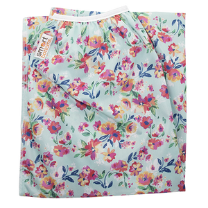 Smart Bottoms - Pail Liner - Diaper pail liner - Aqua Floral - cloth diaper storage