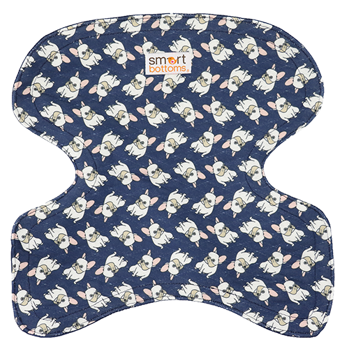 Smart Bottoms - Seat Saver - Sir Winston - cute french bulldog print car seat cover