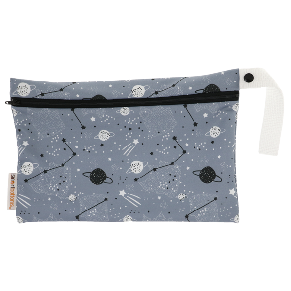 Smart Bottoms - Small Wet Bag - Apollo print - cute space theme print waterproof cloth diaper bag