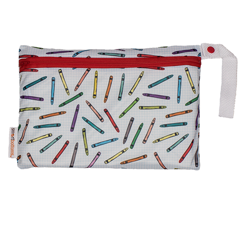smart bottoms - mesh small bag - Crayons print - washable and reusable mesh bag
