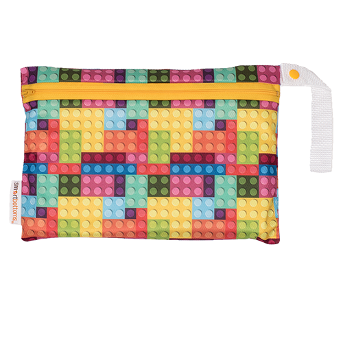 smart bottoms - mesh small bag - blocks print - multicolored blocks mesh bag