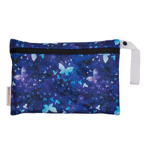 Smart Bottoms - Small Wet Bag - Little Wings - blue butterflies waterproof cloth diaper bag