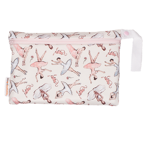 Smart Bottoms - Small Wet Bag - Little Dancers - waterproof accessory bag - Ballerina print - Cloth diaper bag