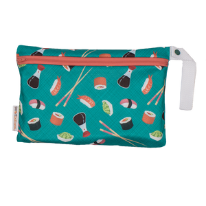Smart Bottoms - Small Wet Bag - You're My Soy-mate print - cute sushi print waterproof cloth diaper bag