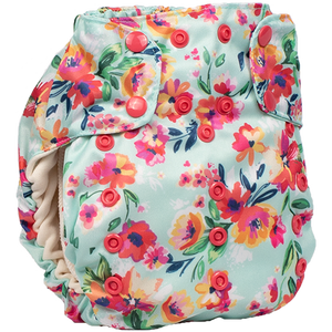 Smart One 3.1 - Aqua Floral - smartbottoms