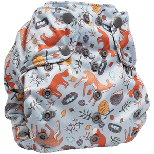 Smart Bottoms - Smart One 3.1 cloth diaper - all natural cloth diaper - Forest Friends print - cute forest animals cloth diaper print