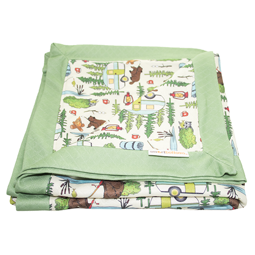 Smart Bottoms - Snuggle Blanket - Campfire Tails Print - Adult blanket - Children's blanket - Cute outdoor animals print camping blanket