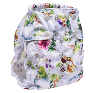 Smart Bottoms Cloth Diapers - Too Smart Diaper Cover - Tea Party - Tea time diaper cover print