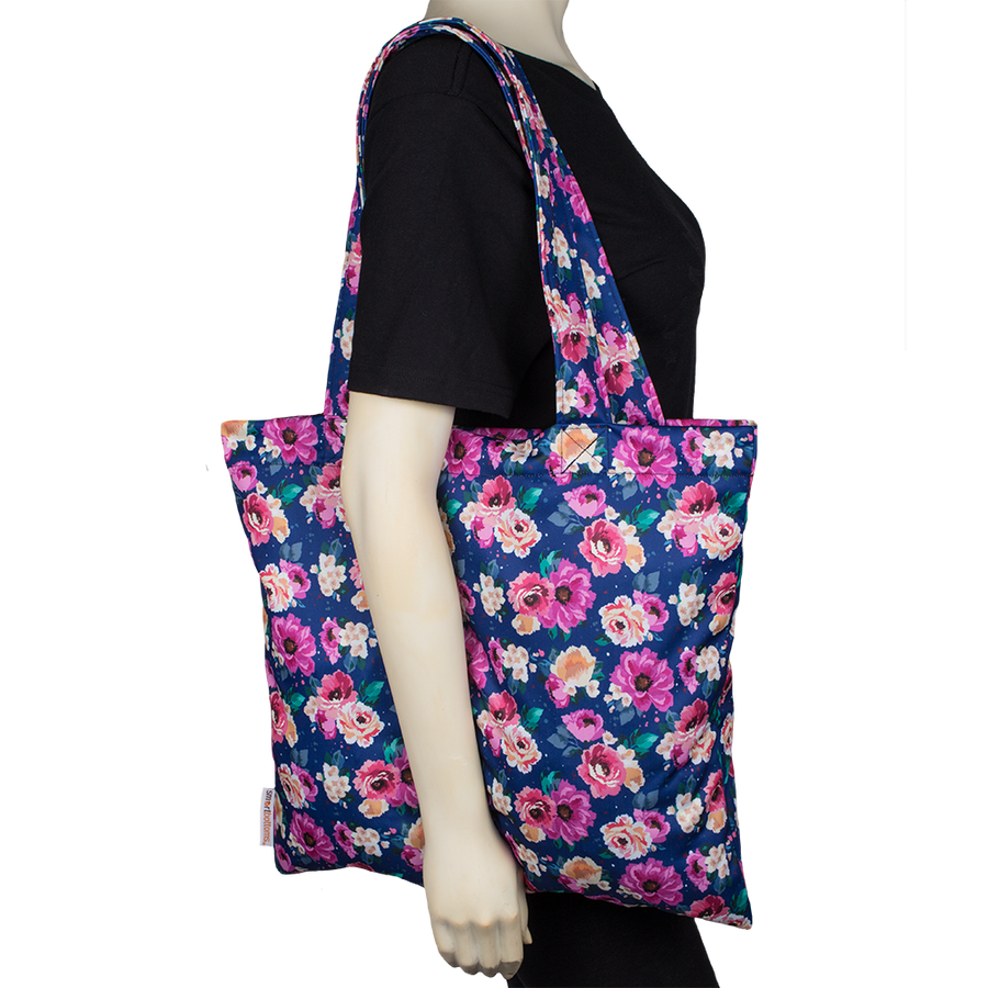 Smart Bottoms - Tote Bag - Multipurpose reusable bag - reusable grocery bag - Petit Bouquet -  floral print reusable tote bag