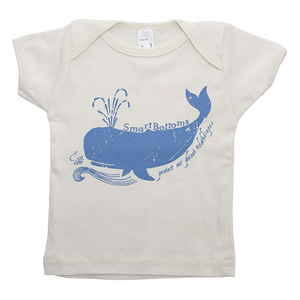 Baby T-Shirt - Whales - smart bottoms - 100% organic cotton baby t-shirt - whale print kids shirt