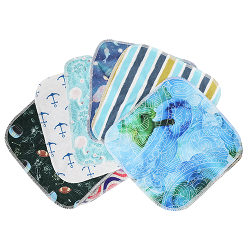 Assorted Cloth Wipes - smart bottoms - cute and soft wash cloth