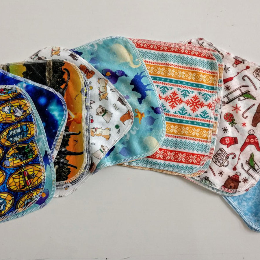Assorted Cloth Wipes - Prints