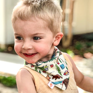 Smart Bottoms - Bandana Bibs - Campfire Tails - Animal print - absorbent and cute bib