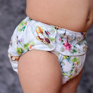 Smart Bottoms - Dream Diaper 2.0 cloth diaper - Tea Party - English tea time print cloth diaper