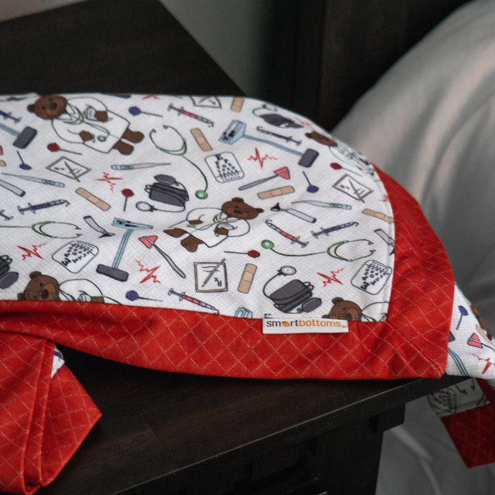 Smart Bottoms - Snuggle Blanket - Doc Print - Adult blanket - Children's blanket - Cute medical print  blanket