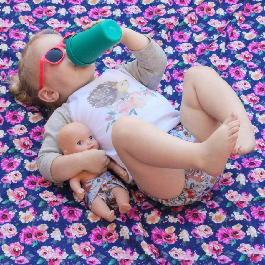 Smart Bottoms - Beach Blanket - Nurture Print - Waterproof beach blanket - floral print