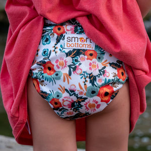 Smart Bottoms - Smart One 3.1 cloth diaper - all natural cloth diaper - Ginny print - Orange poppy floral cloth diaper print Smart Bottoms - Smart One 3.1 cloth diaper - all natural cloth diaper - Ginny prSmart Bottoms - Smart One 3.1 cloth diaper - all natural cloth diaper - Ginny print - Orange poppy floral cloth diaper print Smart Bottoms - Smart One 3.1 cloth diaper - all natural cloth diaper - Ginny print - Orange poppy floral cloth diaper print int - Orange poppy floral cloth diaper print