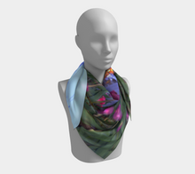 Purple Tulips Niagara on the Lake evening walk ealanta square scarf Square Scarf- ealanta Art Wear