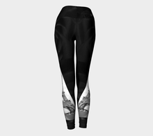 Paris Black Roses & Eiffel Tower Belle Vie ealanta Yoga leggings Yoga Leggings- ealanta Art Wear