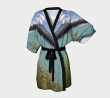 Abraham Lake Alberta Mountain view ealanta Kimono Robe Kimono Robe- ealanta Art Wear