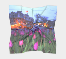 Purple Tulips Niagara on the Lake evening walk ealanta square scarf