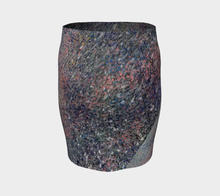 Monet Inspired Pebbles in the Shuswap ealanta  Fitted Skirt