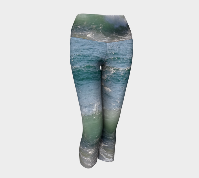 Ocean Splash Yoga Capri ealanta Yoga Capris- ealanta Art Wear