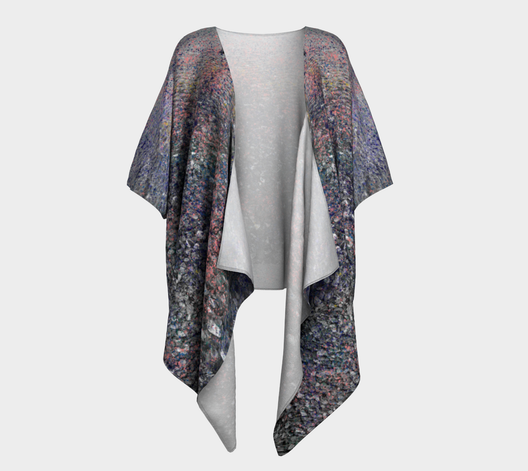 Monet Inspired Pebbles in the Shuswap ealanta Kimono Wrap