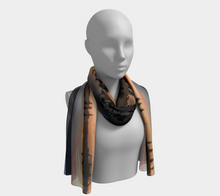 Beaumont Blues Sunset long Scarf ealanta