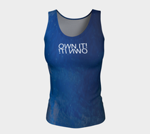 "Own It mirror   Raindrops + Blue Skies Shuswap ealanta Fitted Tank Top (24-25"" long)"