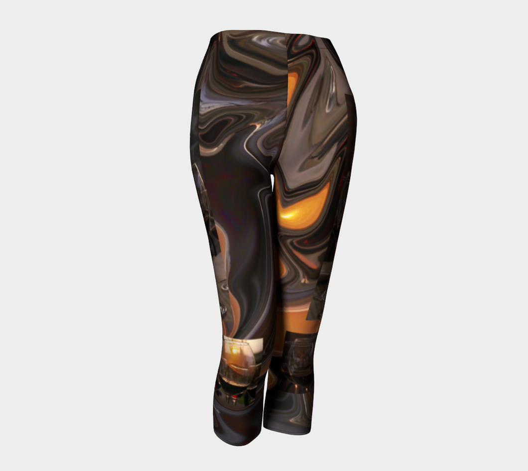A Toast to the Tuscan Sun Capri Leggings ealanta Capris- ealanta Art Wear