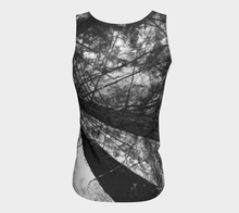 "Forest Meditation Shuswap ealanta Fitted Tank Top (24-25"" long)"