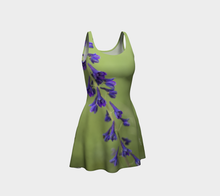 Purple Blossom Dress with Flair ealanta Flare Dress- ealanta Art Wear