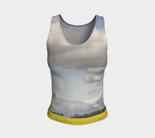 Clouds over Canola ealanta Fitted Tank Top Fitted Tank Top (Regular)- ealanta Art Wear