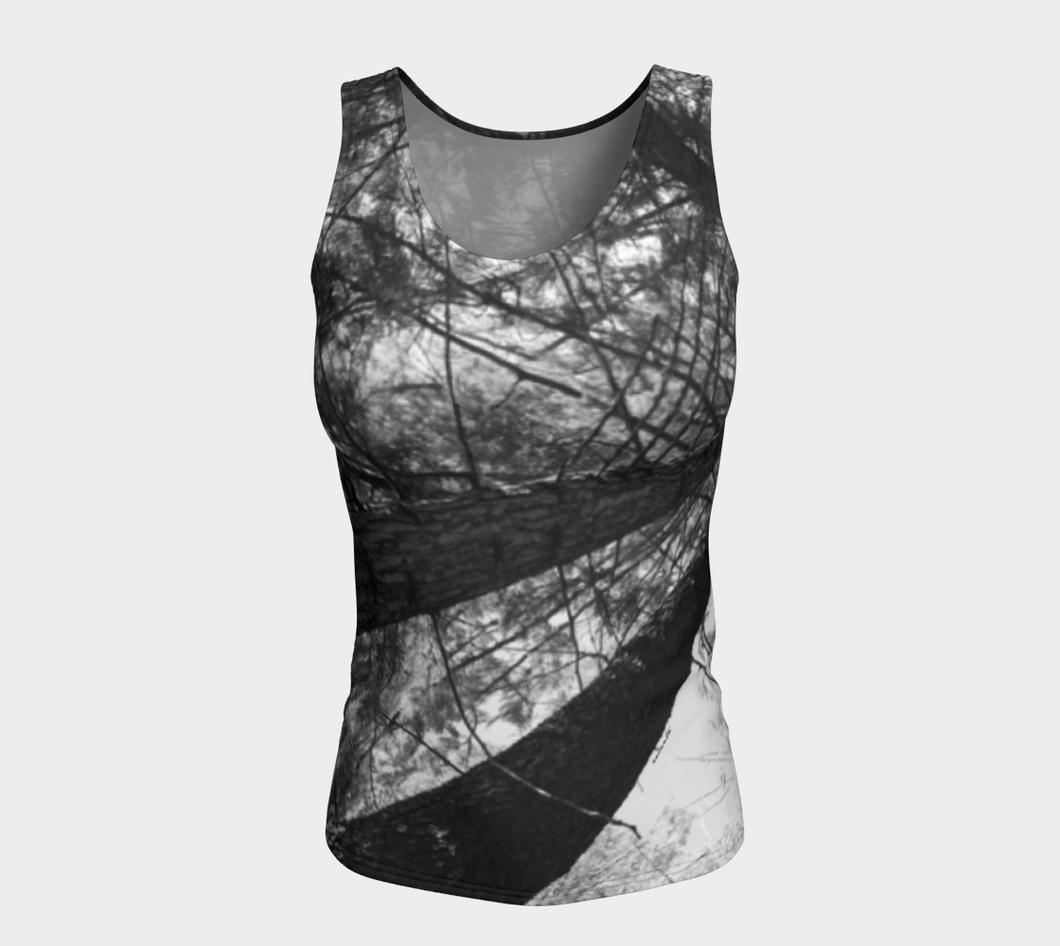 Forest Meditation Shuswap ealanta Fitted Tank Top (24-25
