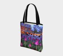 Purple Tulips Niagara on the Lake evening walk ealanta  Tote Bag lined