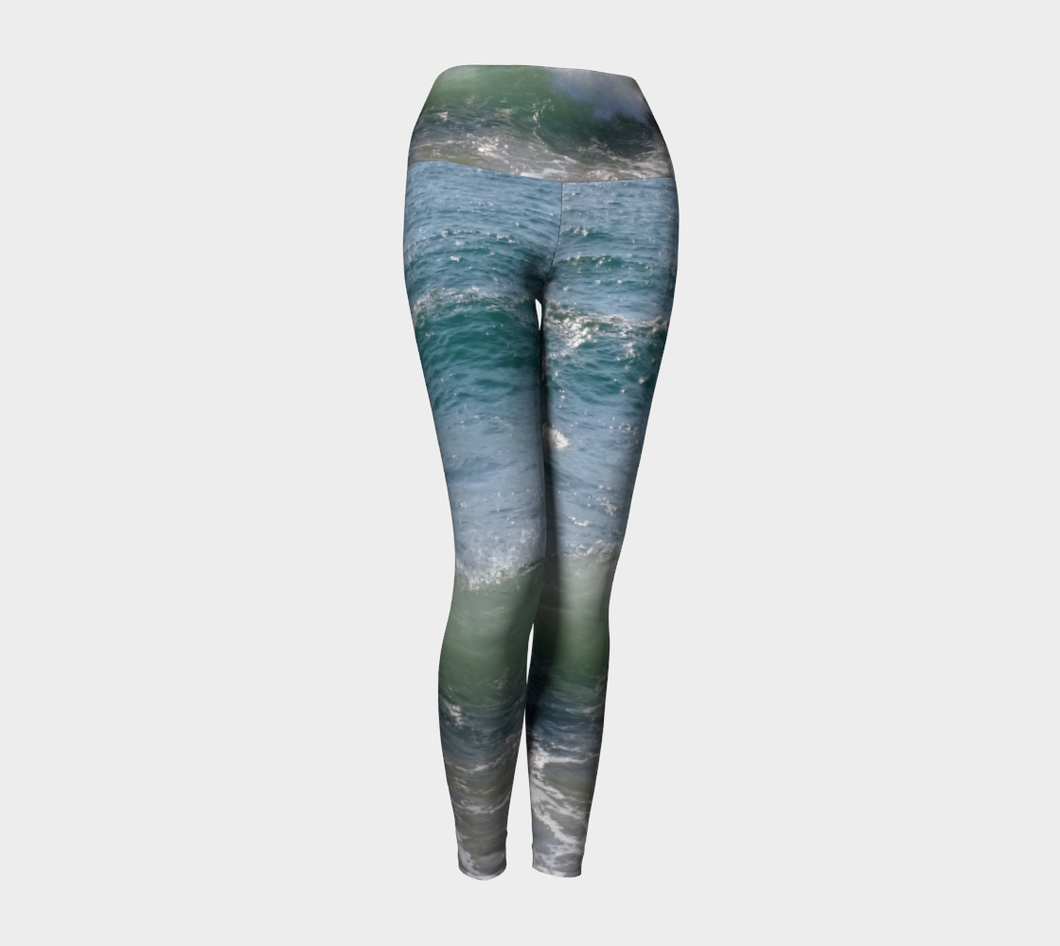 Ocean Splash Yoga Leggings ealanta Yoga Leggings- ealanta Art Wear