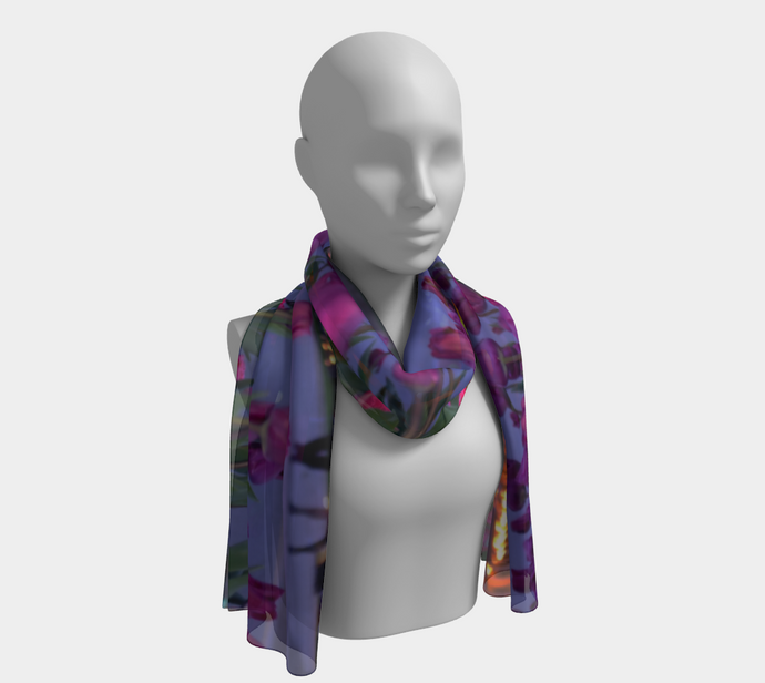 Dreaming of Spring Purple Tulips Niagara on the Lake evening walk ealanta scarf Long Scarf- ealanta Art Wear