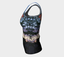 Alberta Bush Party fitted Tank ealanta Fitted Tank Top (Long)- ealanta Art Wear