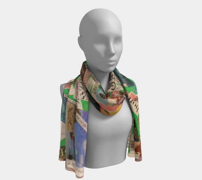 Delous Vision 1  Capri Long Scarf ealanta Long Scarf- ealanta Art Wear