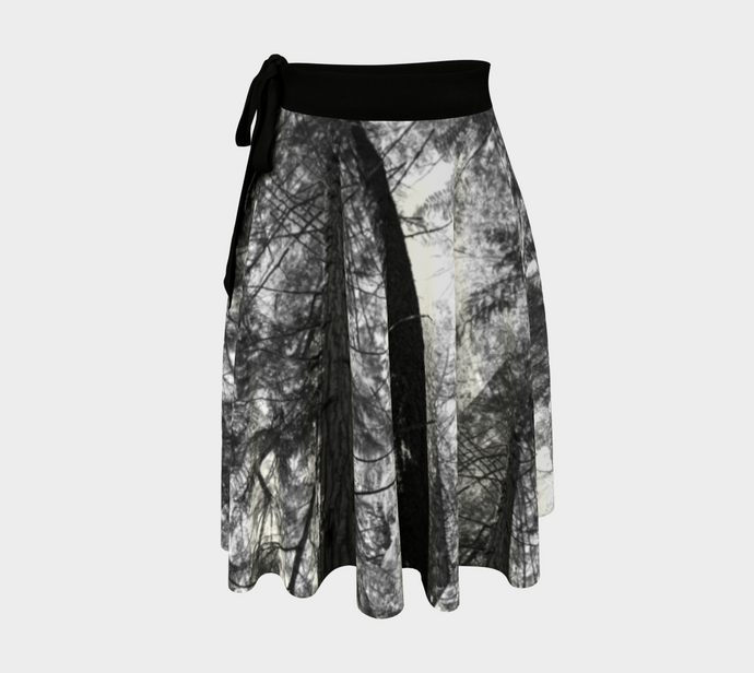 Forest Meditation Collage Shuswap ealanta Wrap Skirt
