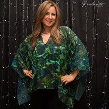 Tuscan Pool Reflections Butterfly Blouse