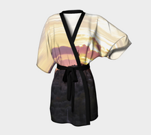 Lemon + Raspberry Gelato Italian Sunset ealanta Kimono Robe- ealanta Art Wear