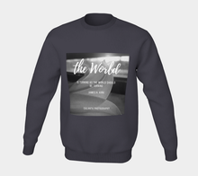 The world is turning...ealanta black & white sweatshirt