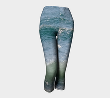 Ocean Splash Capri Leggings ealanta Capris- ealanta Art Wear