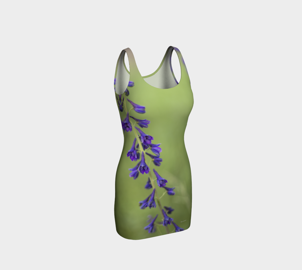 Purple Blossom fitted Dress  ealanta Bodycon Dress- ealanta Art Wear