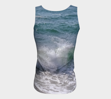 Ocean Splash Fitted Tank ealanta Fitted Tank Top (Long)- ealanta Art Wear