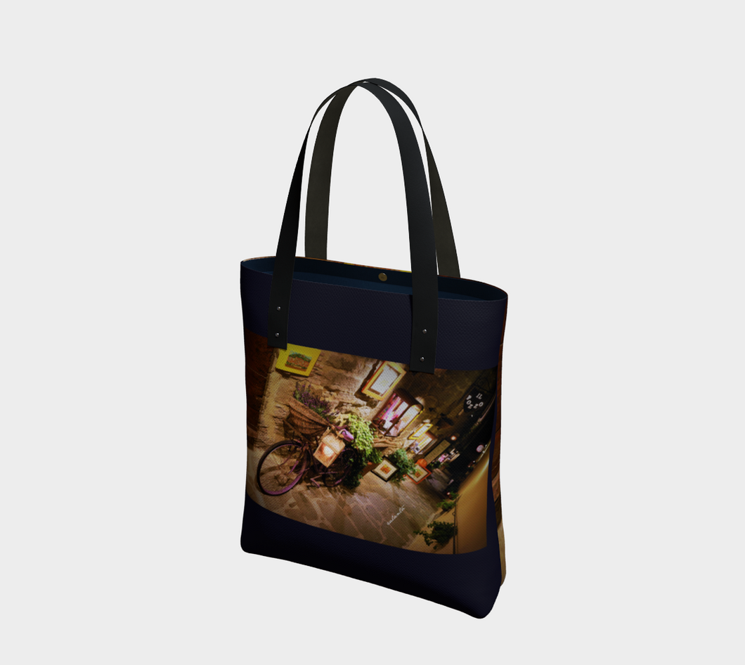 Lavender Delivery + Navy  ealanta Tote Tote Bag- ealanta Art Wear